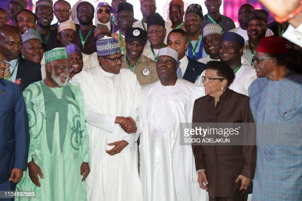 Nigerian President and candidate to his reelection for the All Progressives Congress Muhammadu Buhari and Peoples Democratic Party presidential...
