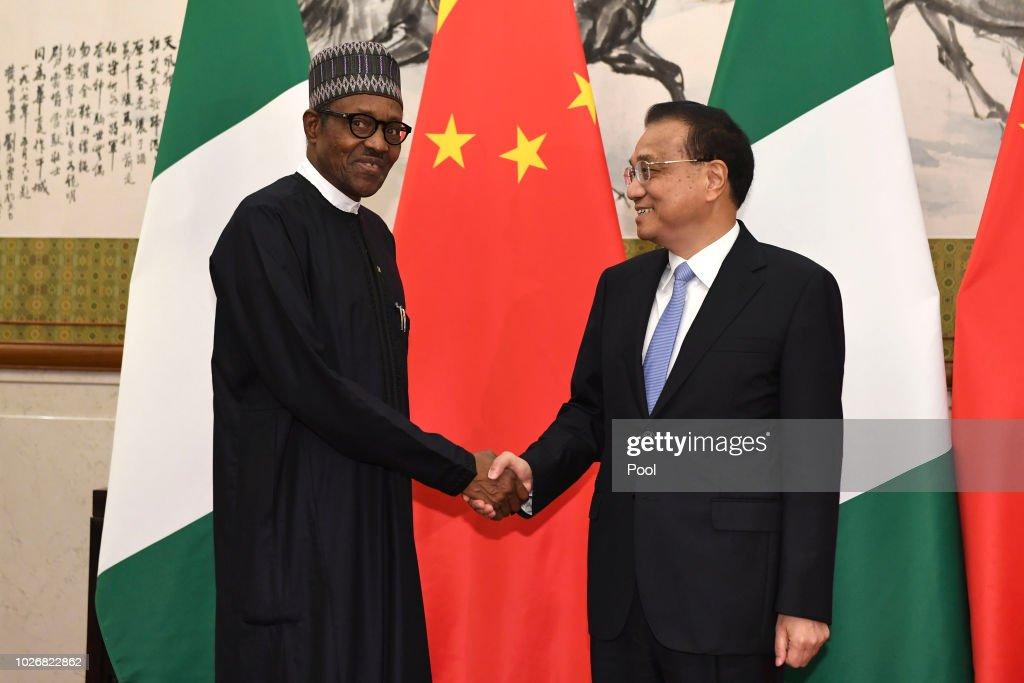 Nigerian President Muhammadu Buhari Visits China : News Photo