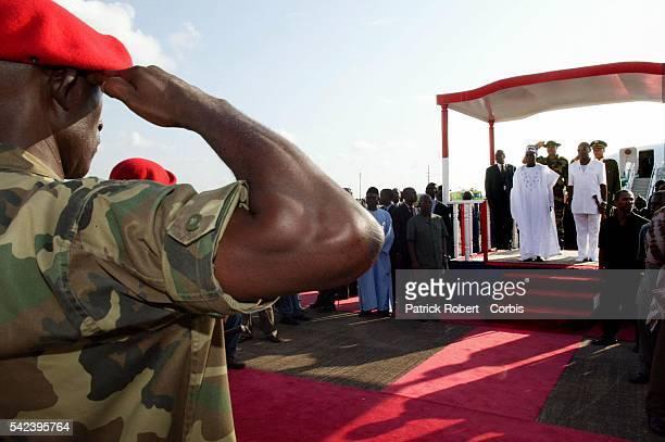 Nigerian President Olusegun Obassandjo arrives in Liberia to meet Liberian President Charles Taylor Obassandjo flew into Liberia on Sunday to discuss...