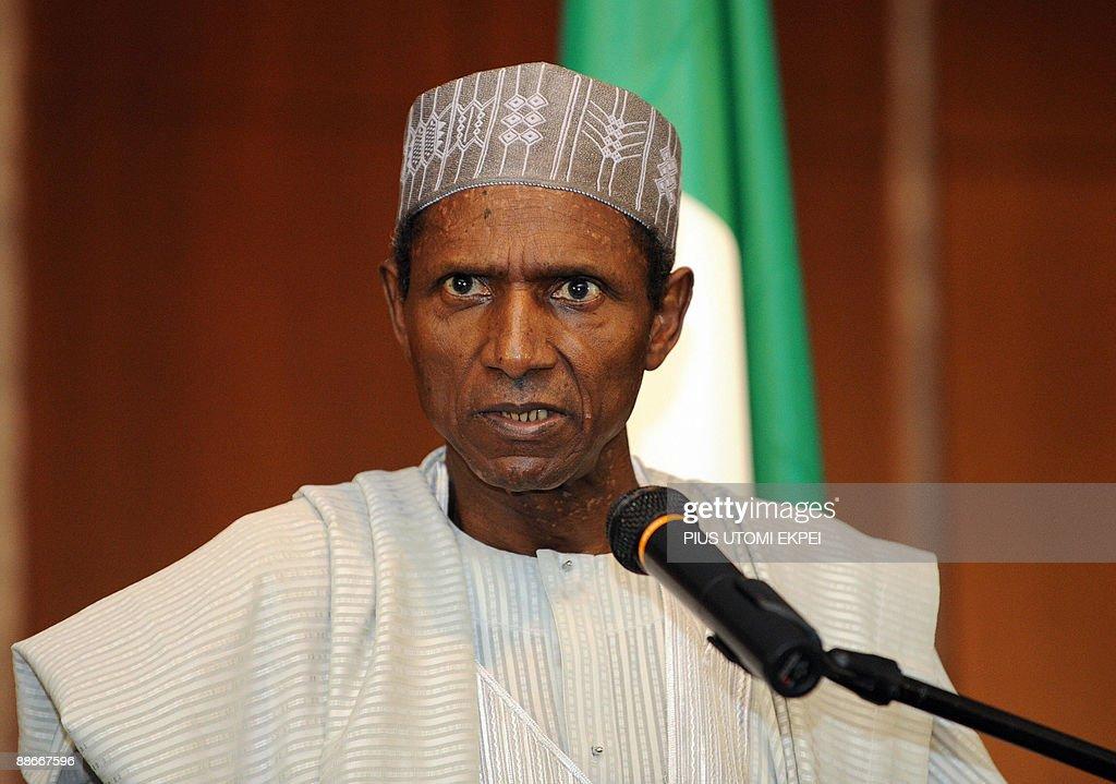 Nigerian President Usman Musa Yar'Adua s : News Photo