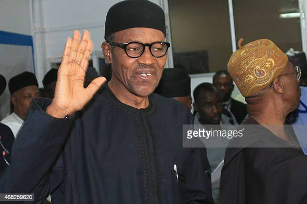 Nigerian presidentelect Muhammadu Buhari waves in Abuja on April 1 2015 Nigeria's new presidentelect Muhammadu Buhari hailed polls that will lead to...