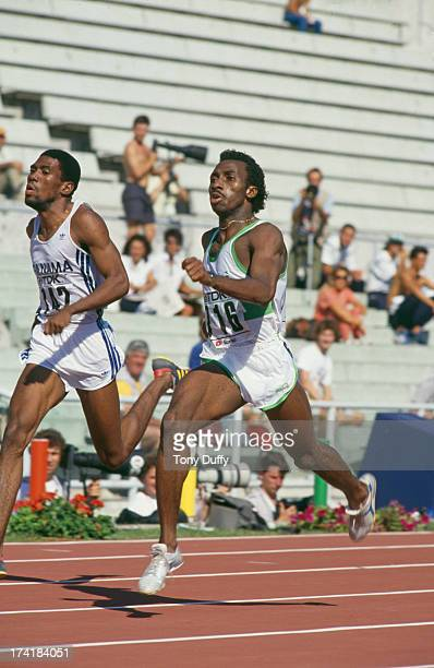 Nigerian sprinter Innocent Egbunike competing in the Men's 400 metres event at the IAAF World Championships in Athletics at the Stadio Olimpico Rome...