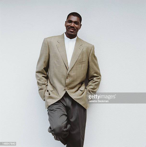 NigerianAmerican basketball player Hakeem Olajuwon of the Houston Rockets Houston 1998