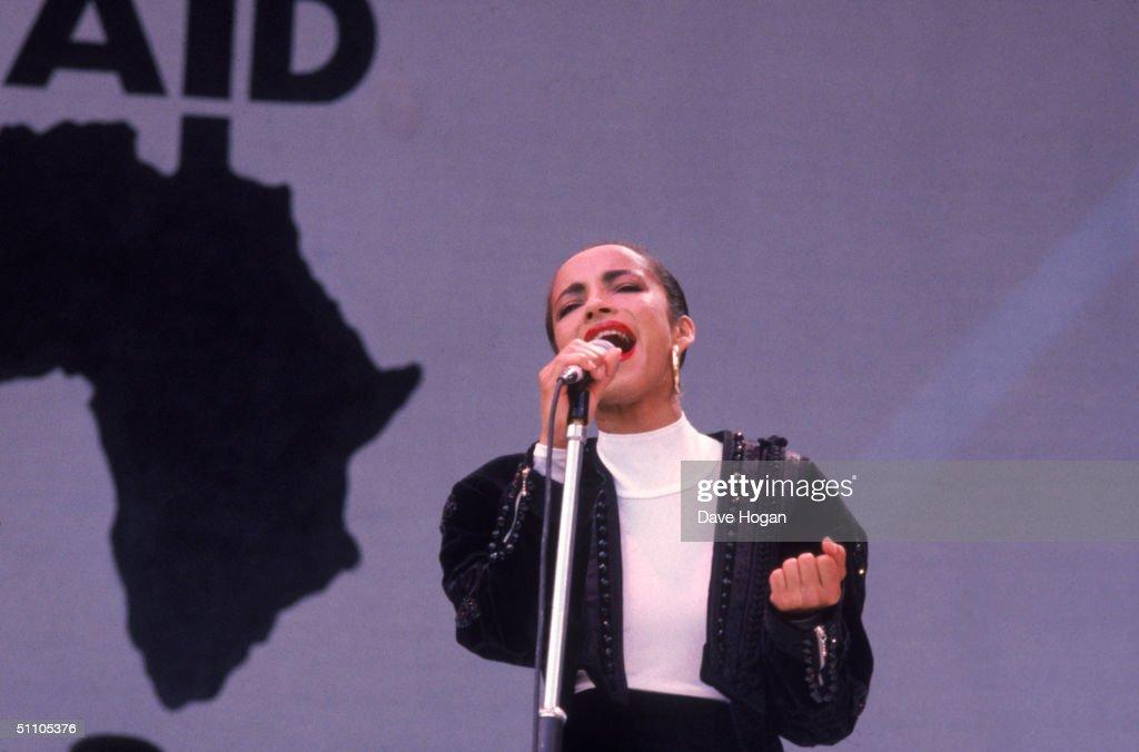 Sade At Live Aid : Nieuwsfoto's