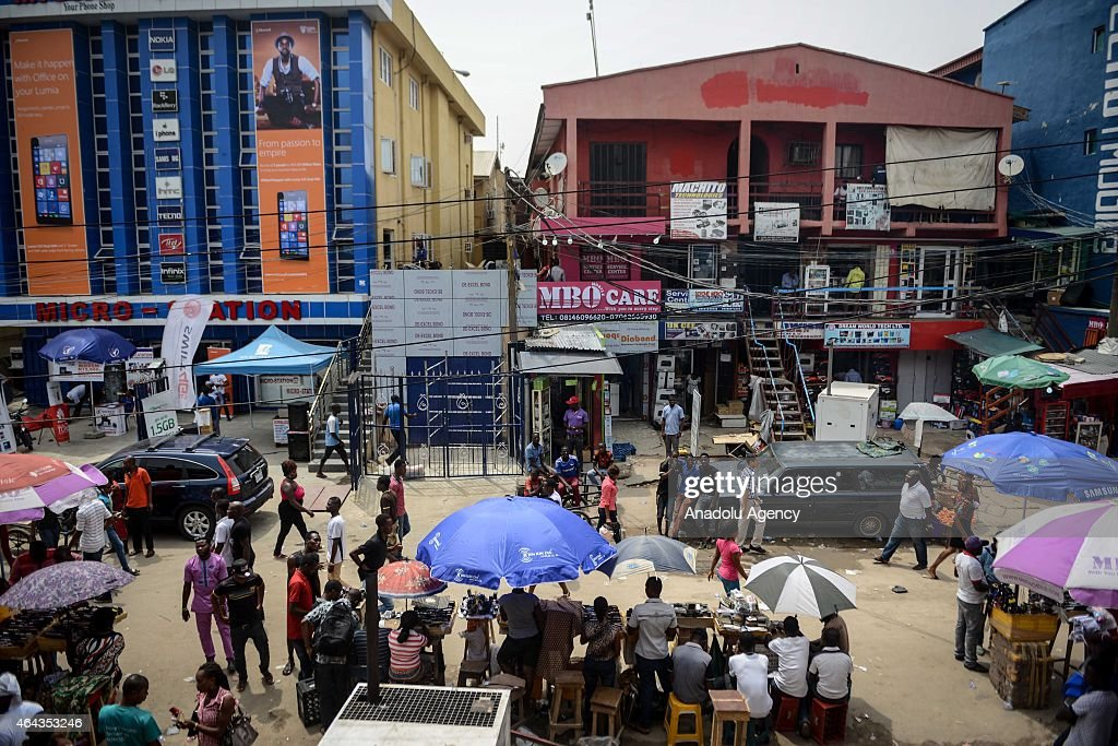 Africa's silicon valley Ikeja in Nigeria : News Photo