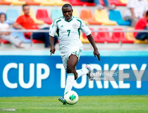 Nigeria's Abdul Ajagun controls the ball on June 24 2013 during a group stage football match between Cuba and Nigeria at the FIFA Under 20 World Cup...