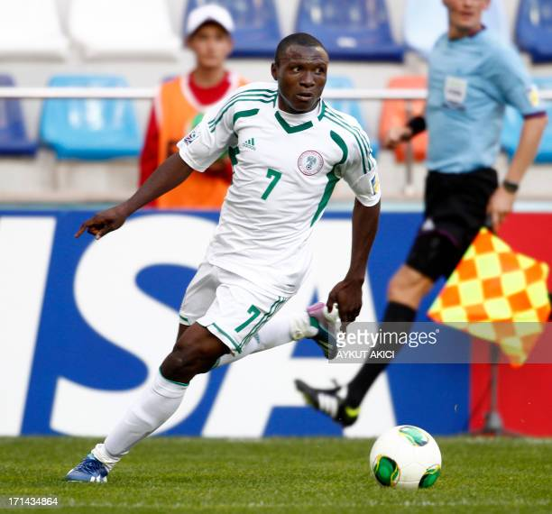 Nigeria's Aminu Umar runs on June 24 2013 during a group stage football match between Cuba and Nigeria at the FIFA Under 20 World Cup at the Kadir...