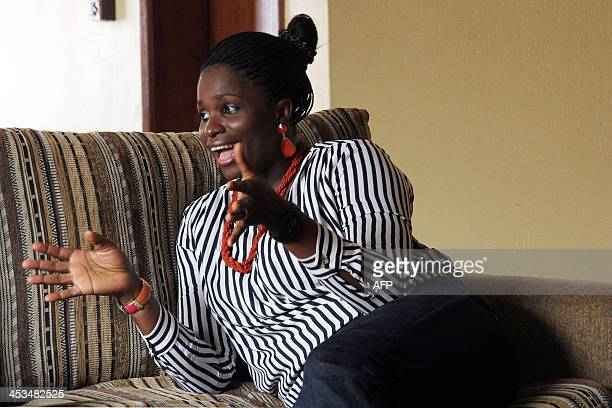 Nigeria's Blessing EffiomEgbe creator of the most talkedabout television programmes in Nigeria Lekki Wives gives an interview on December 4 2013 in...