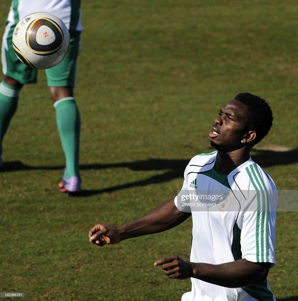 Nigeria's defender Ayodele Adeleye takes : News Photo