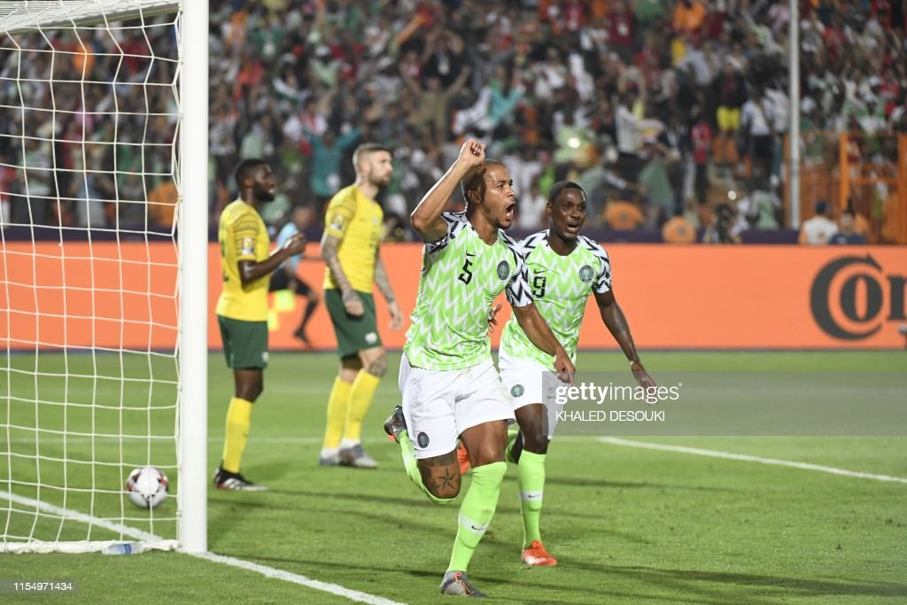 FBL-AFR-2019-MATCH48-NGA-RSA : News Photo