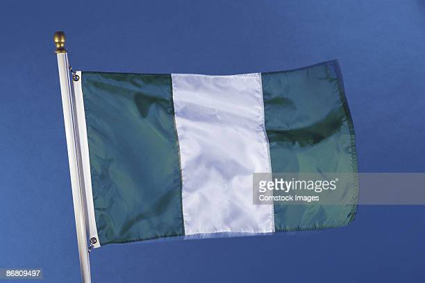 nigeria's flag - nigerian flag stock photos and pictures