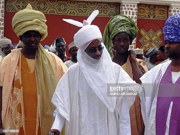 Nigeria's former Governor of the Central Bank of Nigeria and potential heir to the Kano emirate Sanusi Lamido Sanusi arrives at the royal palace in...