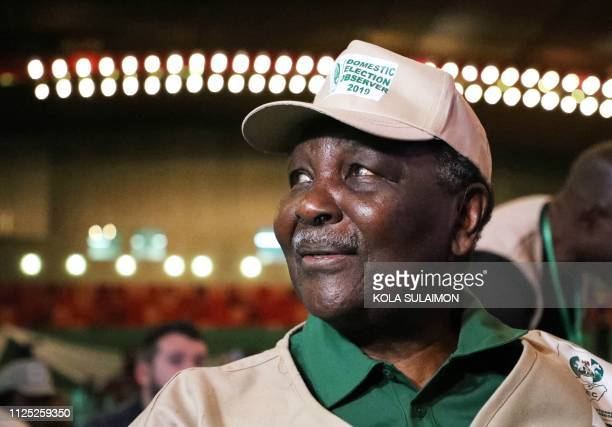 Nigerias former head of state Yakubu Gowon attends a meeting with the chairman of the Independent National Electoral Commission , stakeholders and...