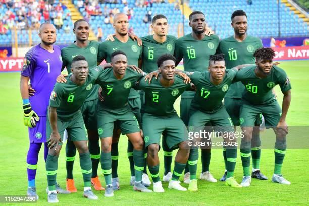 Nigeria's goalkeeper Ikechukwu Ezenwa, Nigeria's forward Odion Ighalo, Nigeria's defender William Ekong, Nigeria's defender Leon Balogun, Nigeria's...