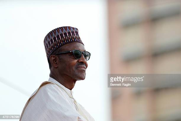 Nigeria's new President Muhammadu Buhari attends his swearing in on May 29 2015 in Abuja Nigeria Buhari a former general in the Nigerian army had...