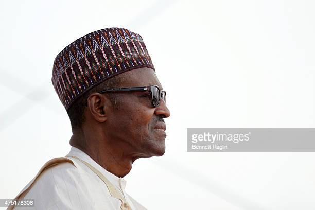 Nigeria's new President Muhammadu Buhari attends his swearing in on May 29, 2015 in Abuja, Nigeria. Buhari, a former general in the Nigerian army,...