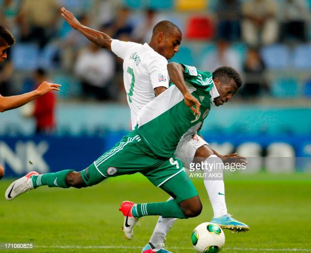 Nigeria's Olarenwaju Kayode vies with Ricardo Pereira of Portugal during a group stage football match between Nigeria and Portugal at the FIFA Under...