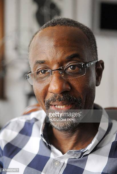 Nigeria's ousted central bank chief Mallam Lamido Sanusi speaks during an interview in Lagos on February 23 2014 Lamido was suspended by President...
