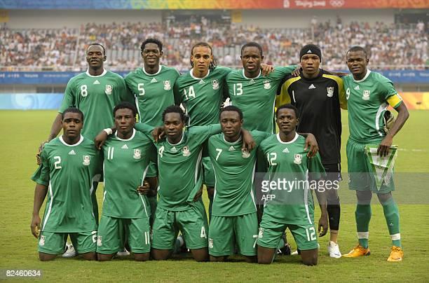 Nigeria's players Sani Kaita Dele Adeleye Peter Odemwingie Olubayo Adefemi Ambruse Vanzekin Victor Obinna Chibuzor Okonkwo Solomon Okoronkwo...