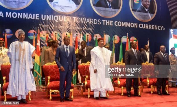Nigeria's Presidents Muhammadu Buhari Togo's President Faure Gnassingbe Niger's President Mahamadou Issoufou Ivory Coast President Alassane Ouattara...