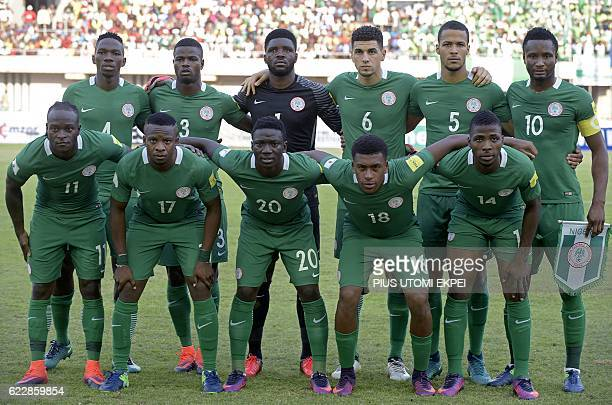 Nigeria's squad defender Kenneth Omeruo defender Elderson Uwa Echiejile goalkeeper Daniel Akpeyi defender Leon Balogun defender William TroostEkong...