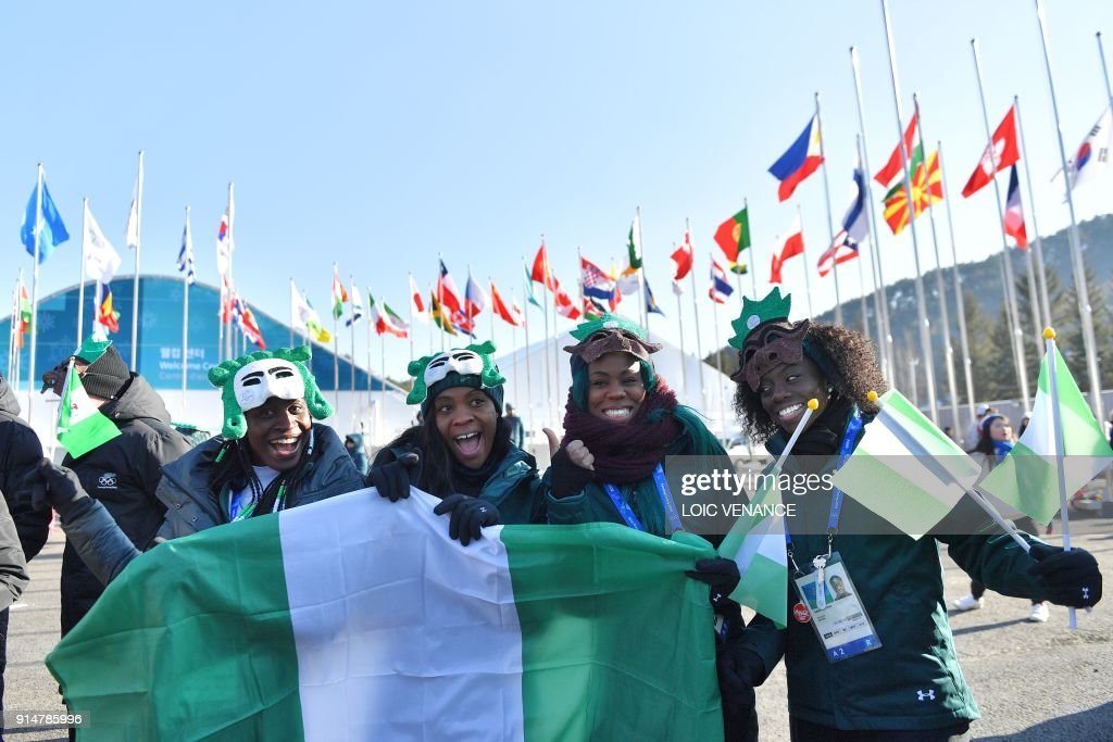 TOPSHOT-OLY-2018-PYEONGCHANG-WELCOMING-CEREMONY-NGA : News Photo