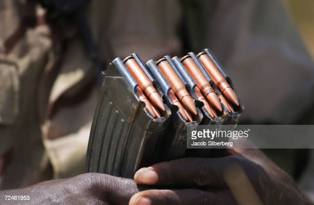 Nigerien soldier loads ammunition into a clip during a training exercise September 22 2004 in Samara Niger Through the TransSahara Counter Terrorist...