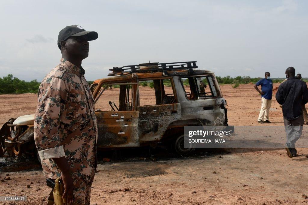 TOPSHOT-NIGER-FRANCE-UNREST : News Photo