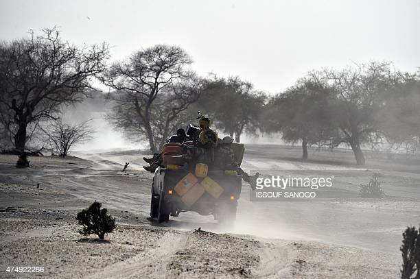 Nigerien soldiers patrol in Bosso near the Nigerian border on May 25 2015 Niger has extended for three months the state of emergency in its...