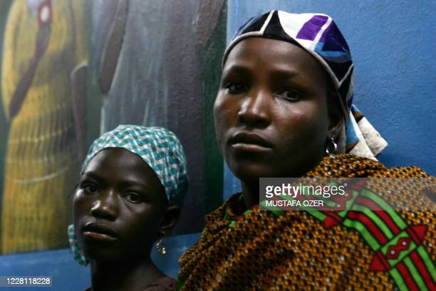 Nigerien women suffering from obstetric fistula wait for a chance to be examined and eventually get surgery on July 16 2008 at the Maradi hospital...