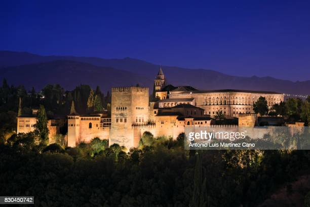 Night Alhambra from the Albaicin
