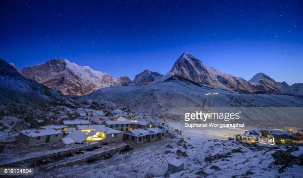 Night at Everest base camp