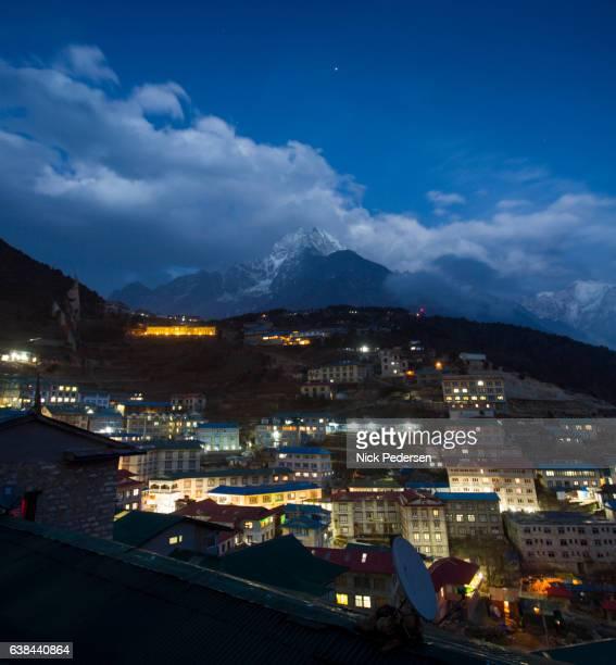 Night at Namche Bazaar