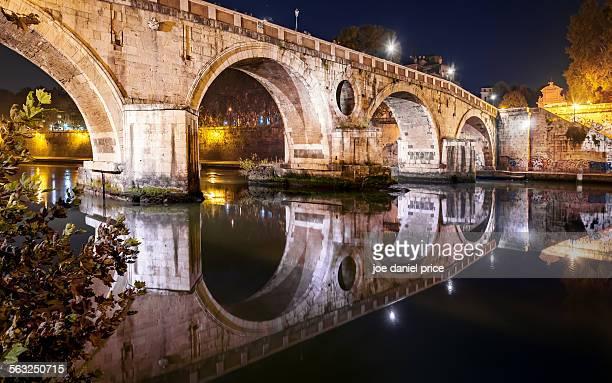 Night at Ponte Sisto, Rome, Italy