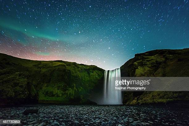 Night at Skógafoss