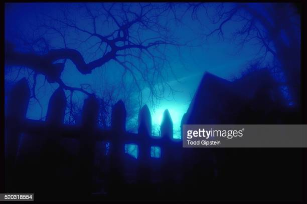 night at the house of seven gables - gipstein stock pictures, royalty-free photos & images
