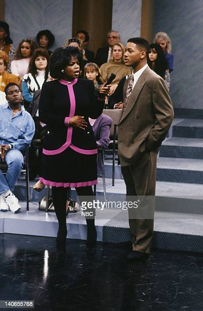 AIR 'A NIght at the Oprah' Episode 9 Pictured Oprah Winfrey as Herself Will Smith as William 'Will' Smith  Photo by Chris Haston/NBCU Photo Bank
