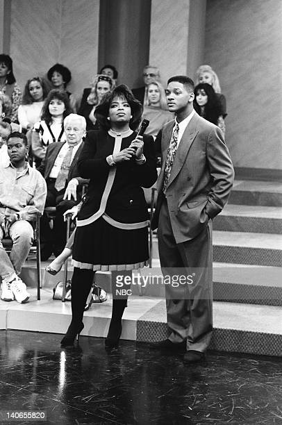 AIR A NIght at the Oprah Episode 9 Pictured Oprah Winfrey as Herself Will Smith as William 'Will' Smith  Photo by Chris Haston/NBCU Photo Bank