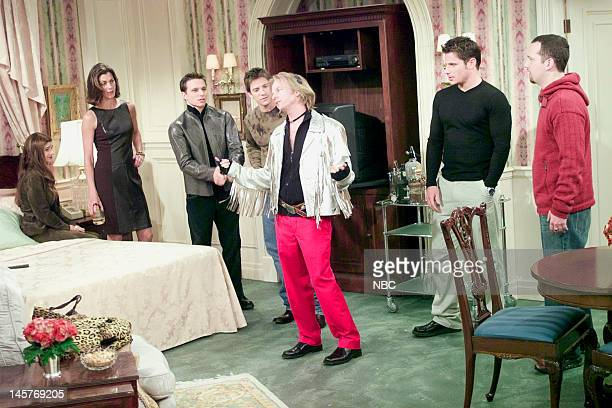 ME A Night at the Plaza Episode 2 Pictured Wendie Malick as Nina Van Horn Justin Jeffre Drew Lachey David Spade as Dennis Finch Nick Lachey Jeff...