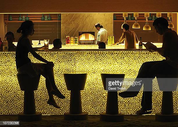 night bar at a resort in Thailand