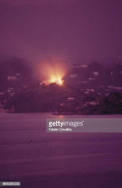 Night Bombing of SaintGeorges During US Invasion of Grenada