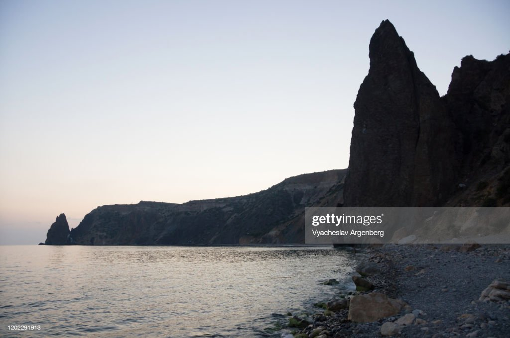 Night by the sea, Crimea : Stock Photo