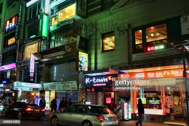 CONTENT] Night city lights in Koreatown the ethnic Korean enclave in Midtown Manhattan in New York City located on 32nd Street between Fifth and...