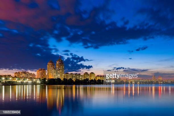 night city - kiev stock pictures, royalty-free photos & images