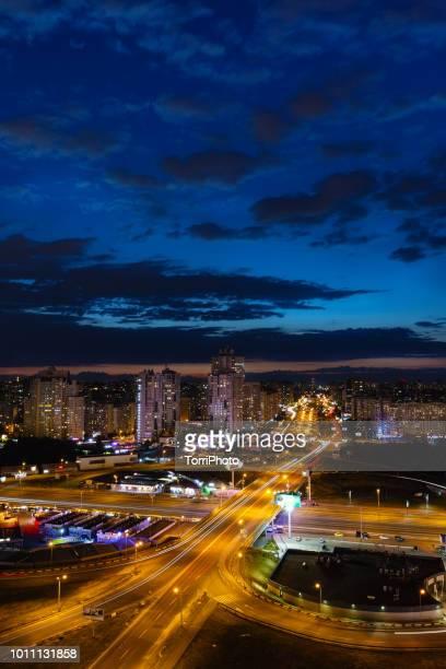 Night cityscape, Kiev