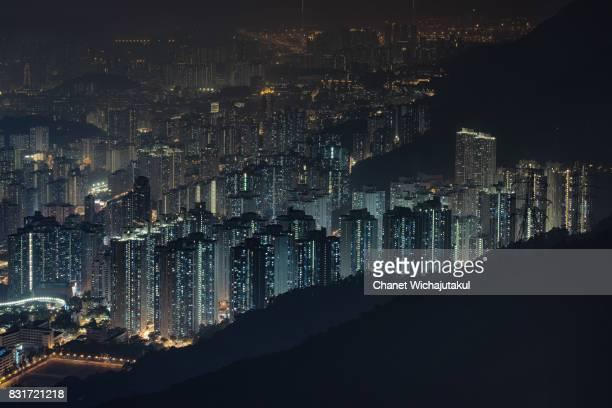 Night Cityscape Kowloon Peak
