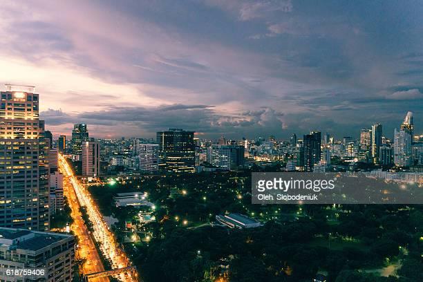 Night cityscape of Bangkok