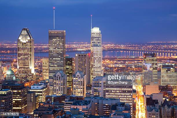 Night cityscape of Montreal