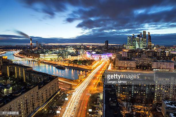 Night cityscape of Moscow