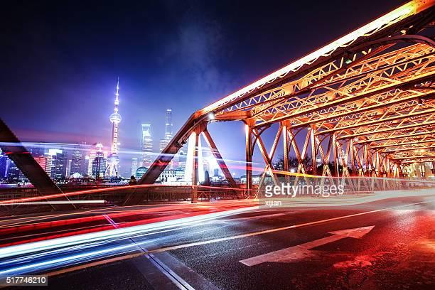Nuit de la ville de shanghai